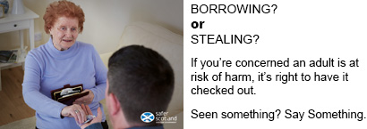 Adult Support and Protection Borrowing or Stealing